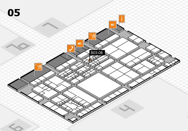 K 2016 hall map (Hall 5): stand B03-08