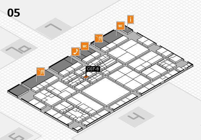 K 2016 hall map (Hall 5): stand C07-8