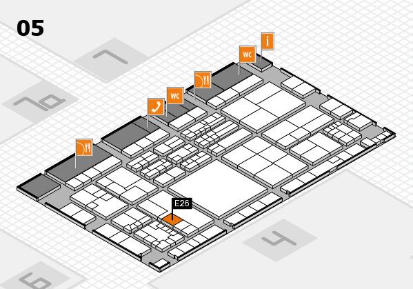 K 2016 hall map (Hall 5): stand E26
