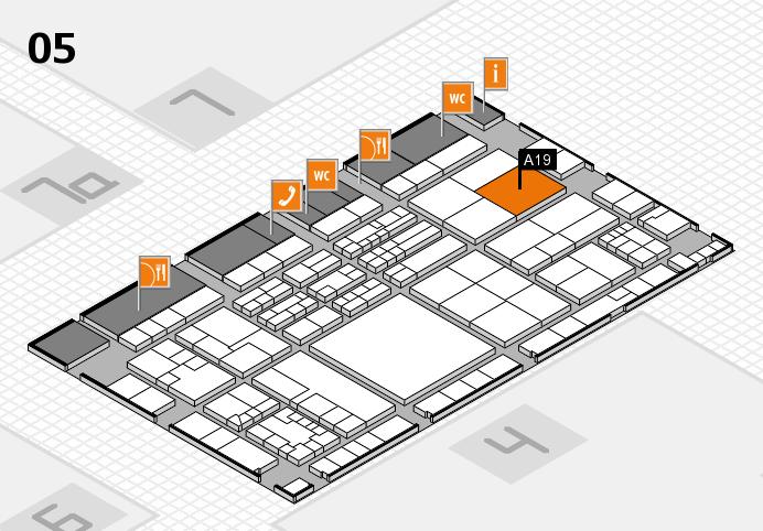 K 2016 hall map (Hall 5): stand A19