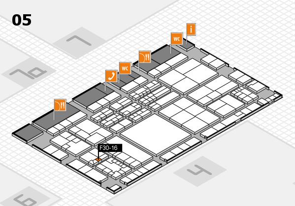 K 2016 hall map (Hall 5): stand F30-16