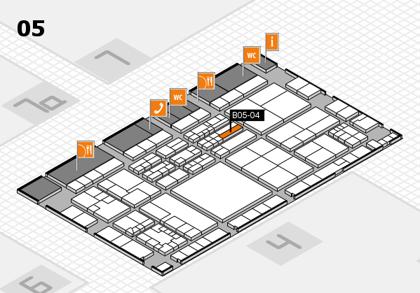 K 2016 hall map (Hall 5): stand B05-04