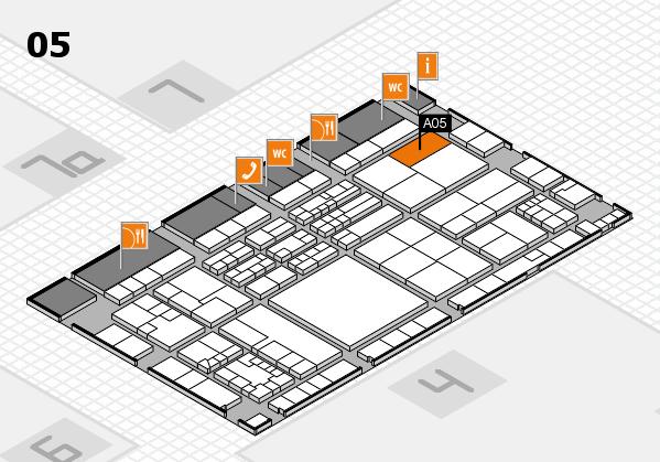 K 2016 hall map (Hall 5): stand A05
