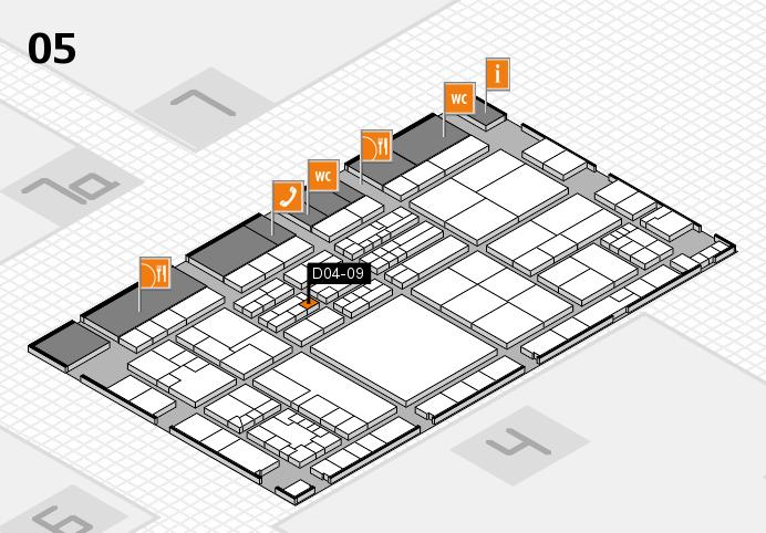 K 2016 hall map (Hall 5): stand D04-09