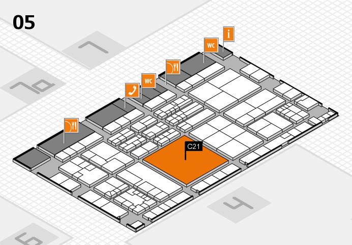 K 2016 hall map (Hall 5): stand C21