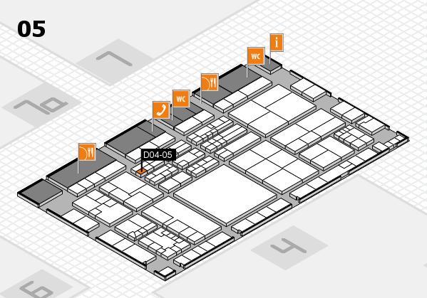 K 2016 hall map (Hall 5): stand D04-05