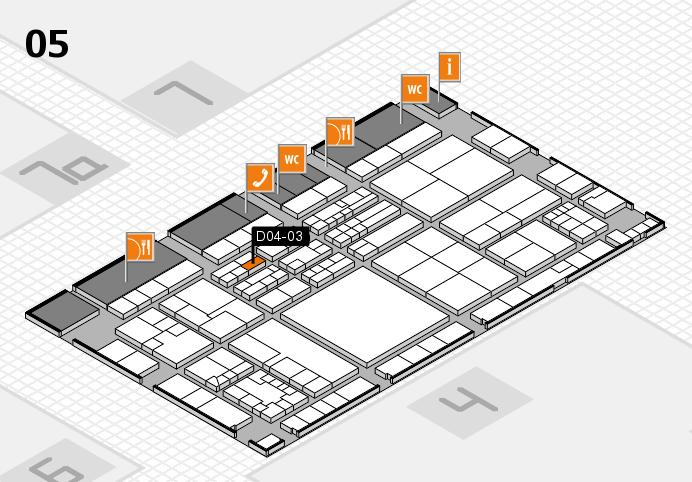 K 2016 hall map (Hall 5): stand D04-03