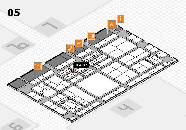 K 2016 hall map (Hall 5): stand D04-08