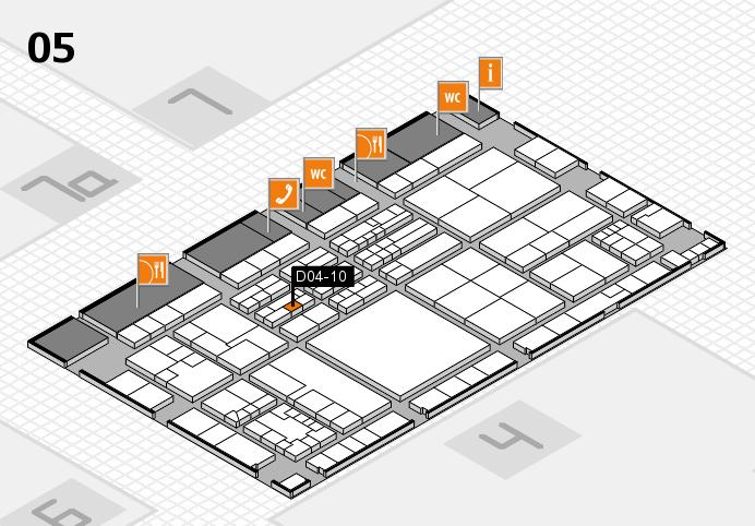 K 2016 hall map (Hall 5): stand D04-10