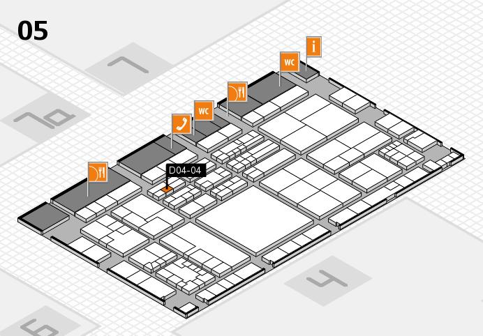 K 2016 hall map (Hall 5): stand D04-04