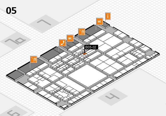 K 2016 hall map (Hall 5): stand B05-02