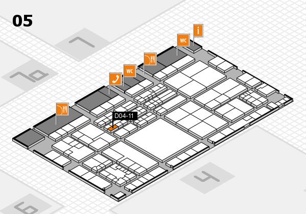 K 2016 hall map (Hall 5): stand D04-11