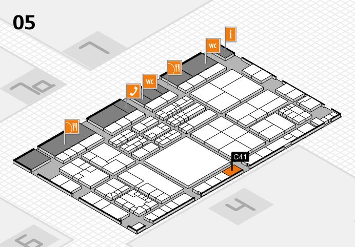 K 2016 hall map (Hall 5): stand C41