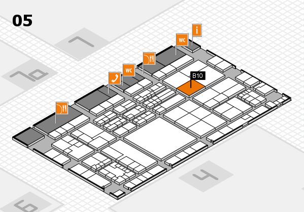 K 2016 hall map (Hall 5): stand B10