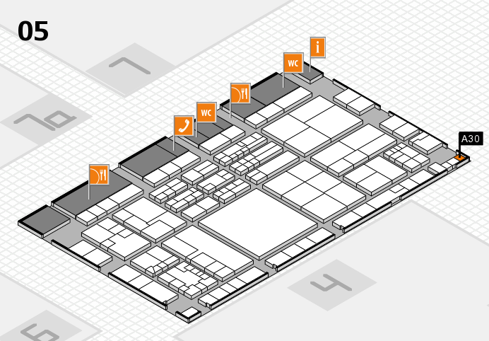 K 2016 hall map (Hall 5): stand A30