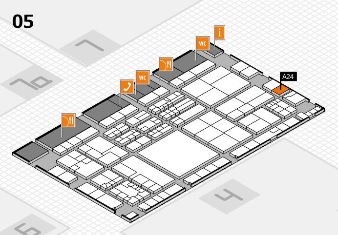 K 2016 hall map (Hall 5): stand A24