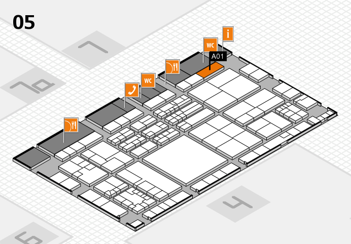 K 2016 hall map (Hall 5): stand A01