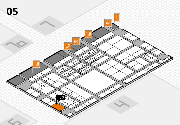 K 2016 hall map (Hall 5): stand F33