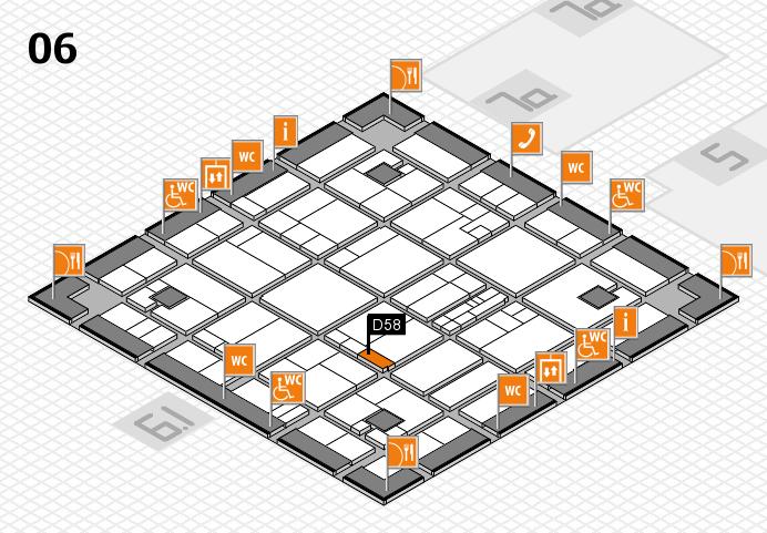 K 2016 hall map (Hall 6): stand D58