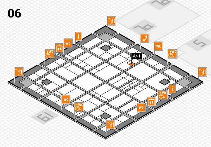 K 2016 hall map (Hall 6): stand A41