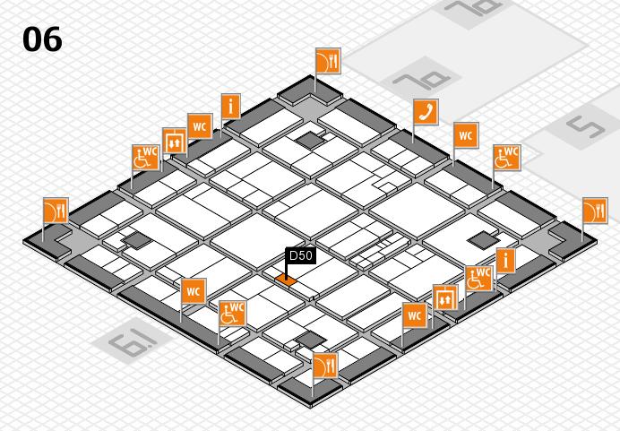 K 2016 hall map (Hall 6): stand D50
