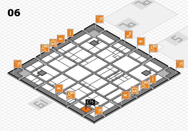 K 2016 hall map (Hall 6): stand E75