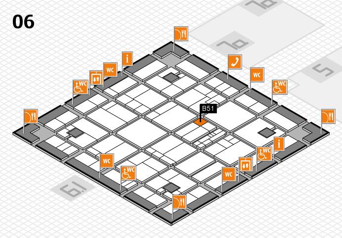 K 2016 hall map (Hall 6): stand B51