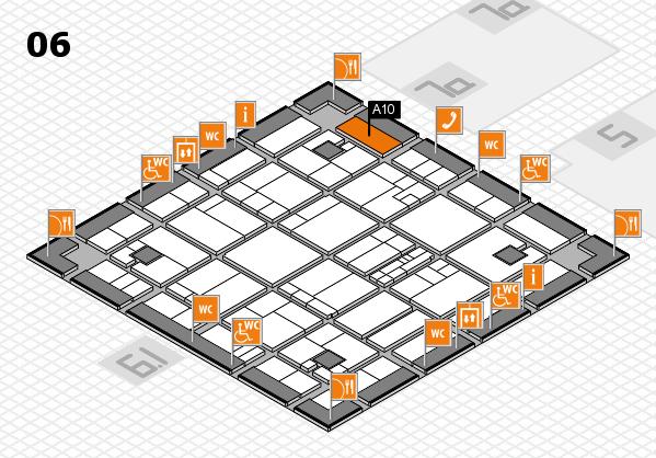 K 2016 hall map (Hall 6): stand A10