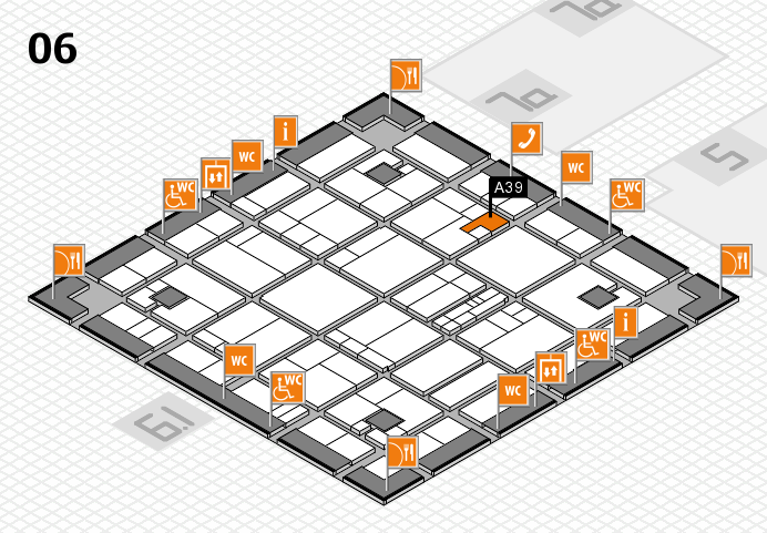 K 2016 hall map (Hall 6): stand A39