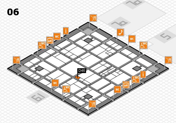 K 2016 hall map (Hall 6): stand D46