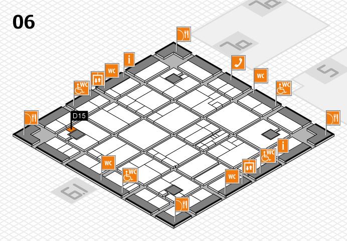 K 2016 hall map (Hall 6): stand D15