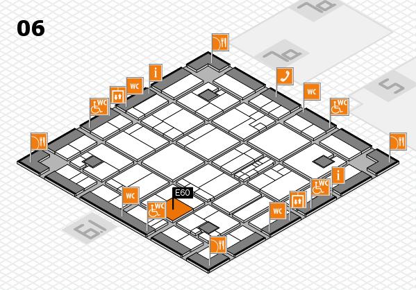 K 2016 hall map (Hall 6): stand E60