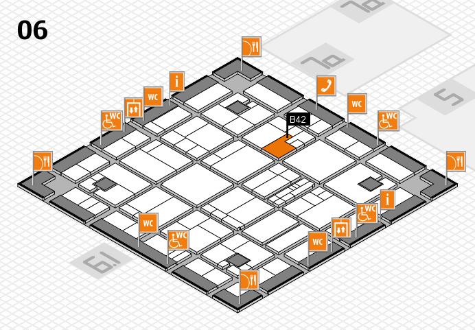 K 2016 hall map (Hall 6): stand B42