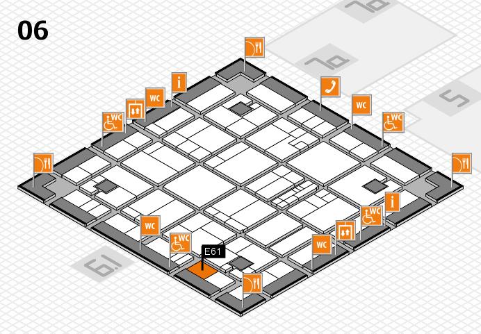 K 2016 hall map (Hall 6): stand E61