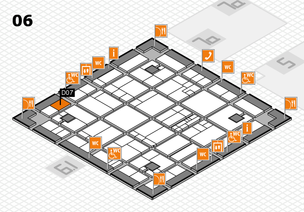 K 2016 hall map (Hall 6): stand D07