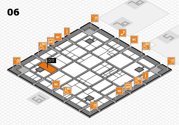 K 2016 hall map (Hall 6): stand D11