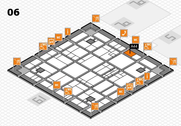 K 2016 hall map (Hall 6): stand A44