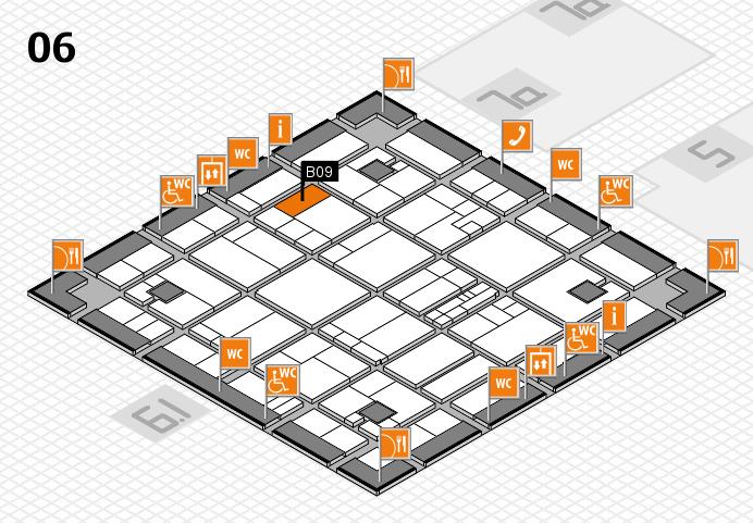 K 2016 hall map (Hall 6): stand B09