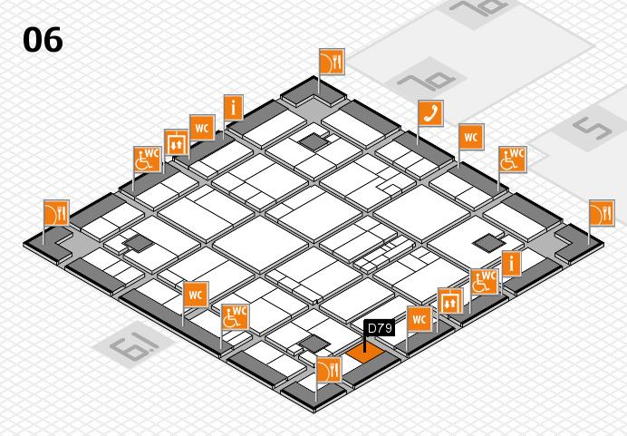 K 2016 hall map (Hall 6): stand D79