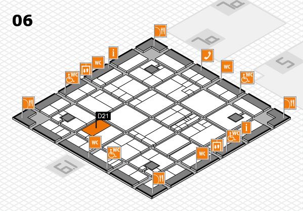 K 2016 hall map (Hall 6): stand D21