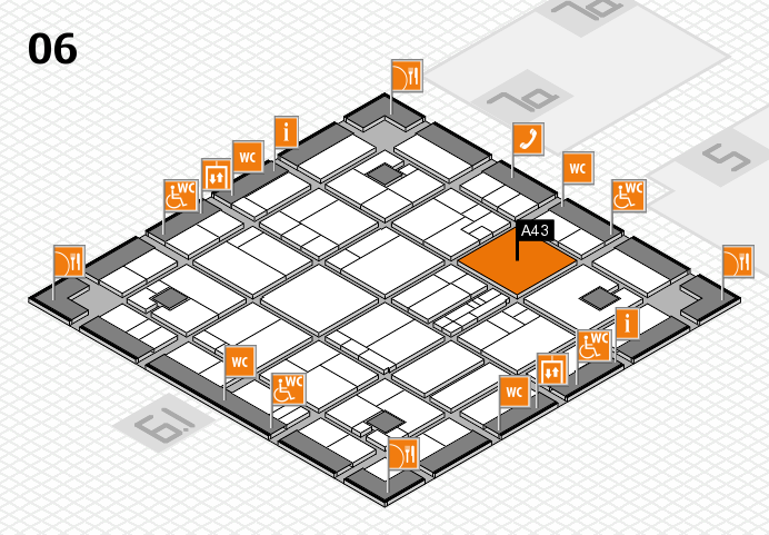 K 2016 hall map (Hall 6): stand A43