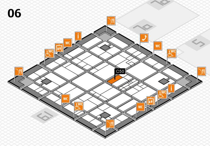 K 2016 hall map (Hall 6): stand C50