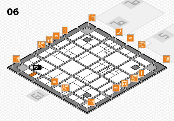 K 2016 hall map (Hall 6): stand E21