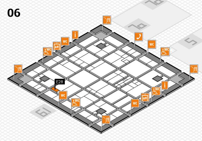 K 2016 hall map (Hall 6): stand E28