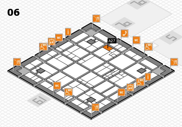 K 2016 hall map (Hall 6): stand A27