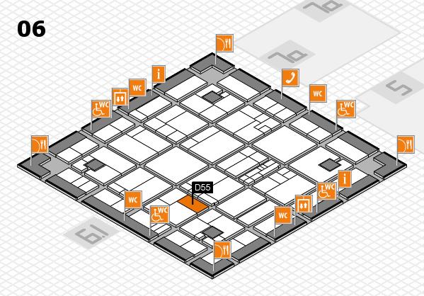 K 2016 hall map (Hall 6): stand D55