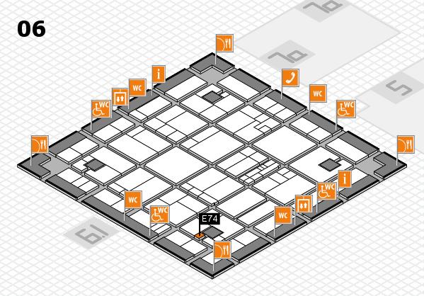 K 2016 hall map (Hall 6): stand E74