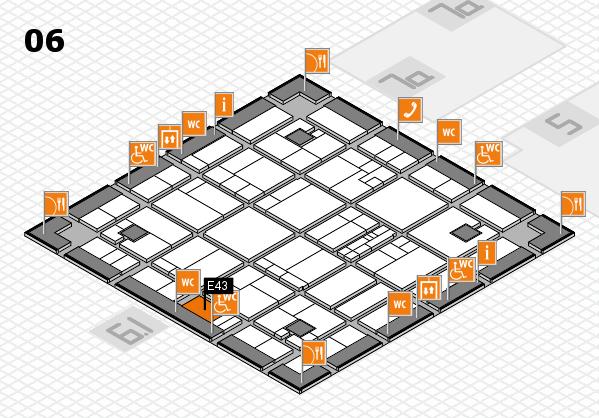 K 2016 hall map (Hall 6): stand E43