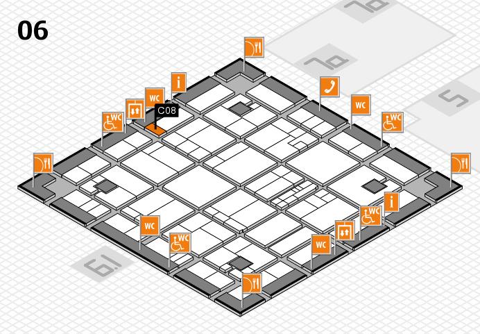 K 2016 hall map (Hall 6): stand C08