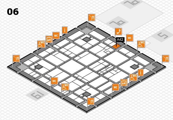 K 2016 hall map (Hall 6): stand A42